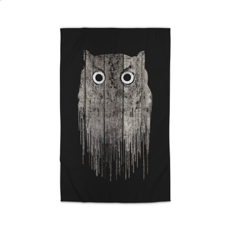 Wooden Owl Home Rug by bulo