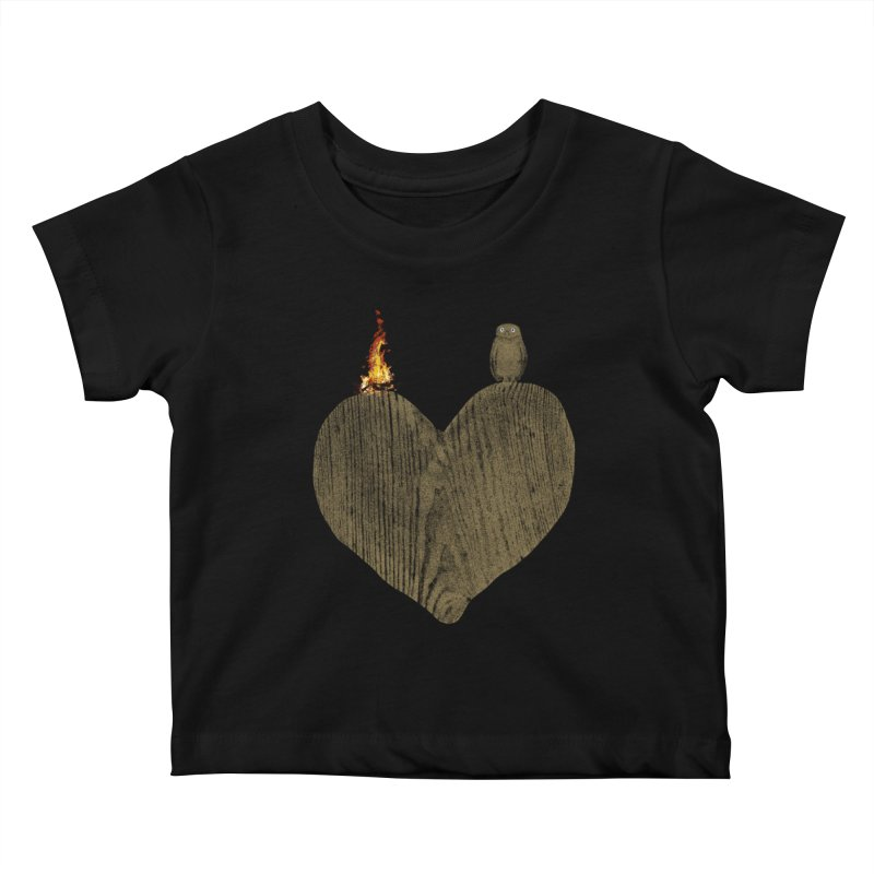 Solitude Kids Baby T-Shirt by bulo