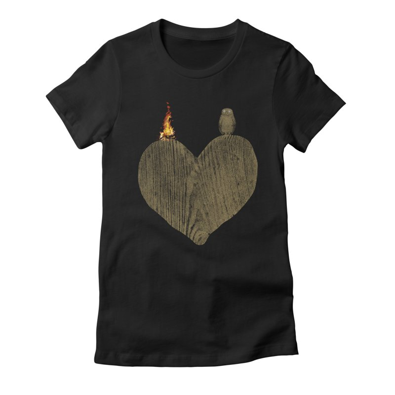 Solitude Women's Fitted T-Shirt by bulo