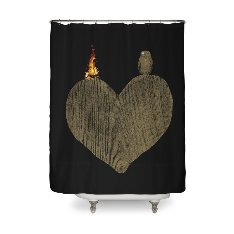 Solitude Home Shower Curtain by bulo