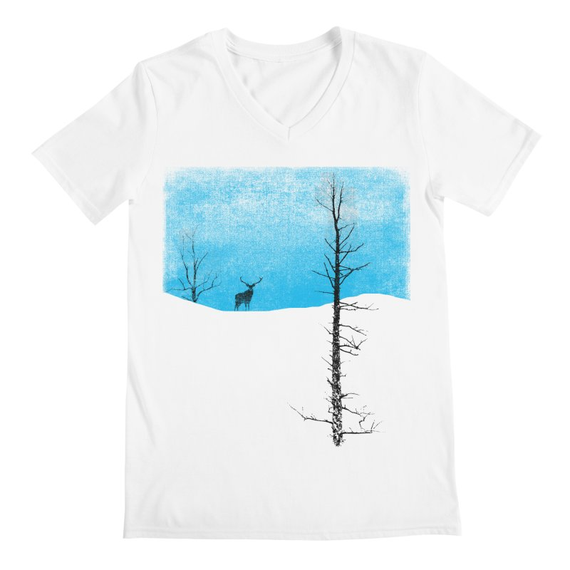 Lonely Tree Men's V-Neck by bulo