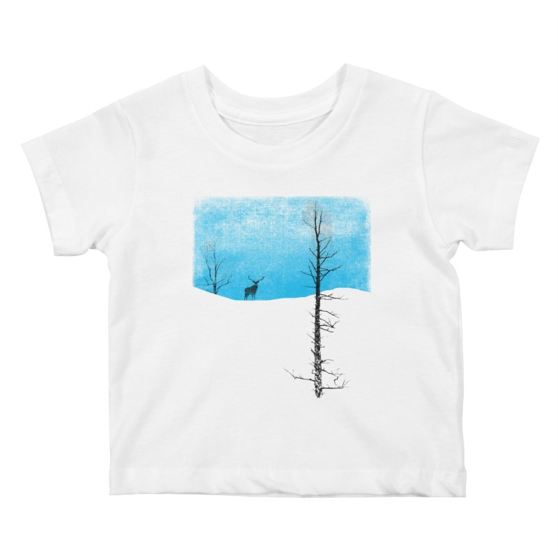 Lonely Tree Kids Baby T-Shirt by bulo