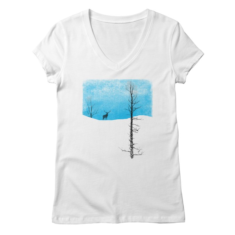 Lonely Tree Women's V-Neck by bulo