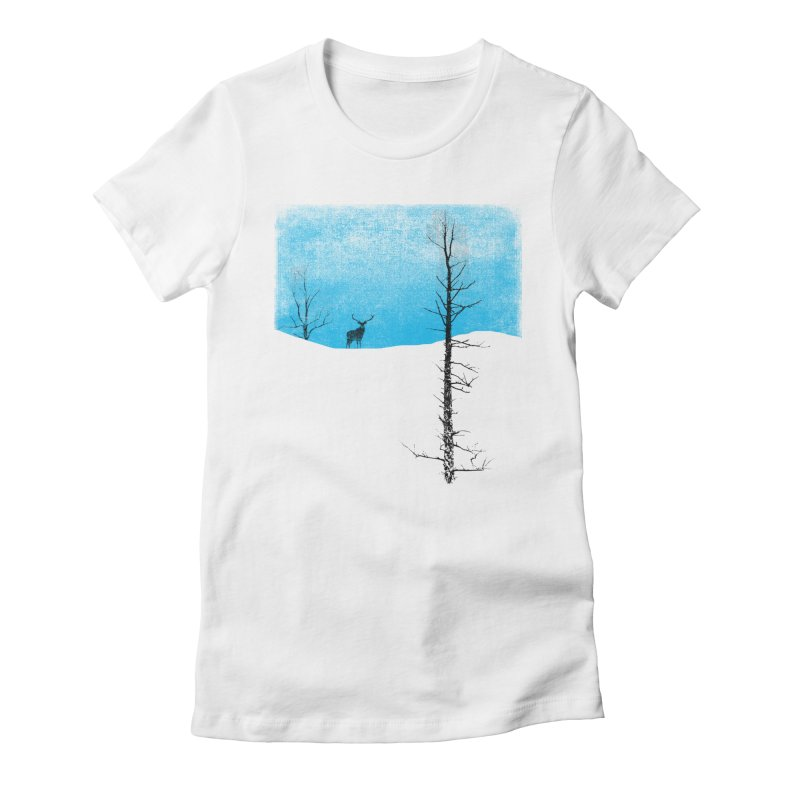 Lonely Tree Women's Fitted T-Shirt by bulo