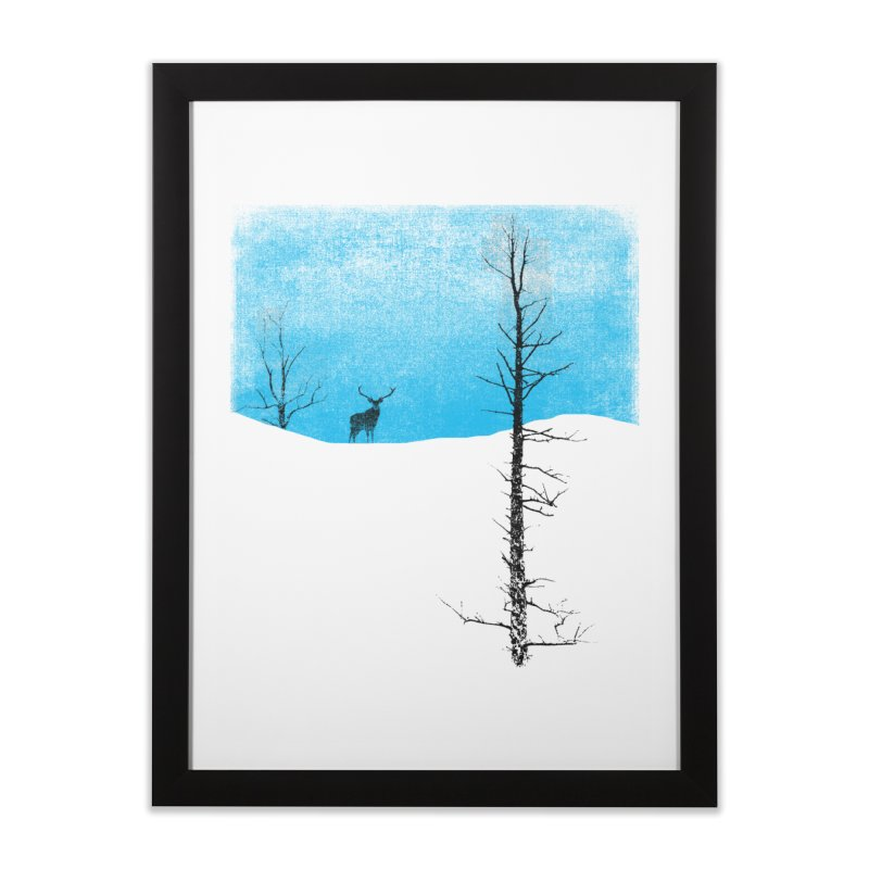Lonely Tree Home Framed Fine Art Print by bulo