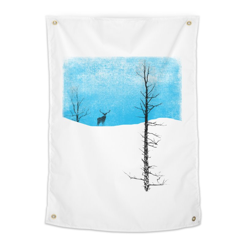 Lonely Tree Home Tapestry by bulo