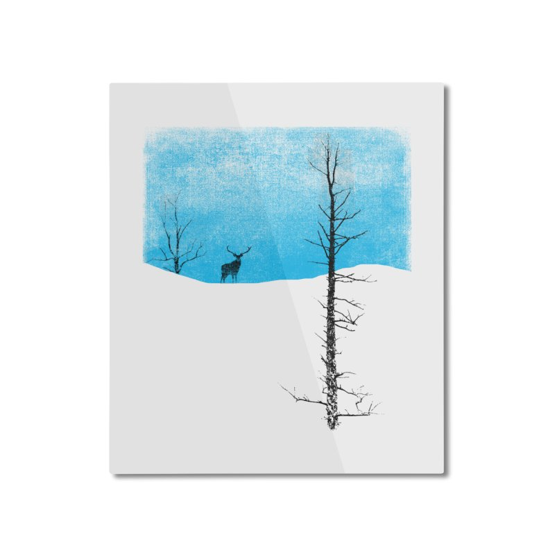 Lonely Tree Home Mounted Aluminum Print by bulo