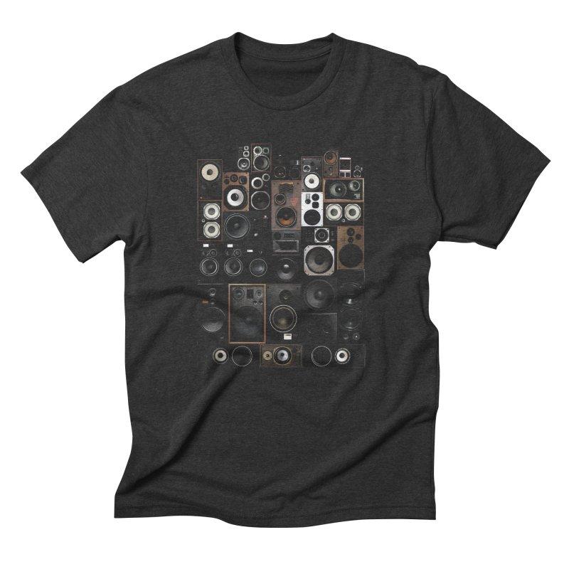 Vintage Speakers Men's Triblend T-Shirt by bulo