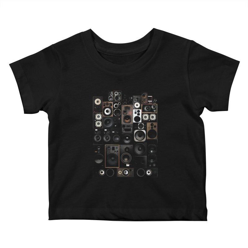 Audio Kids Baby T-Shirt by bulo