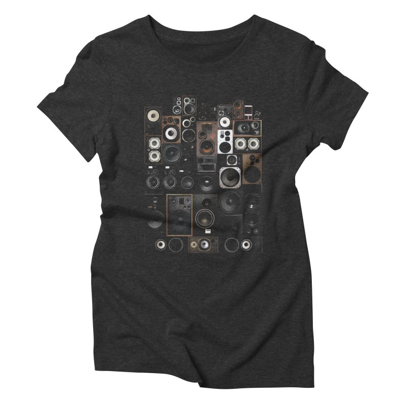 Vintage Speakers Women's Triblend T-Shirt by bulo
