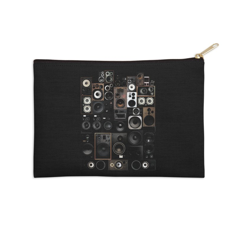 Vintage Speakers Accessories Zip Pouch by bulo
