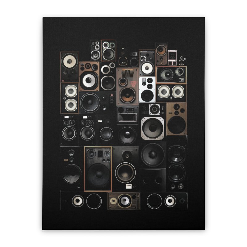 Vintage Speakers Home Stretched Canvas by bulo