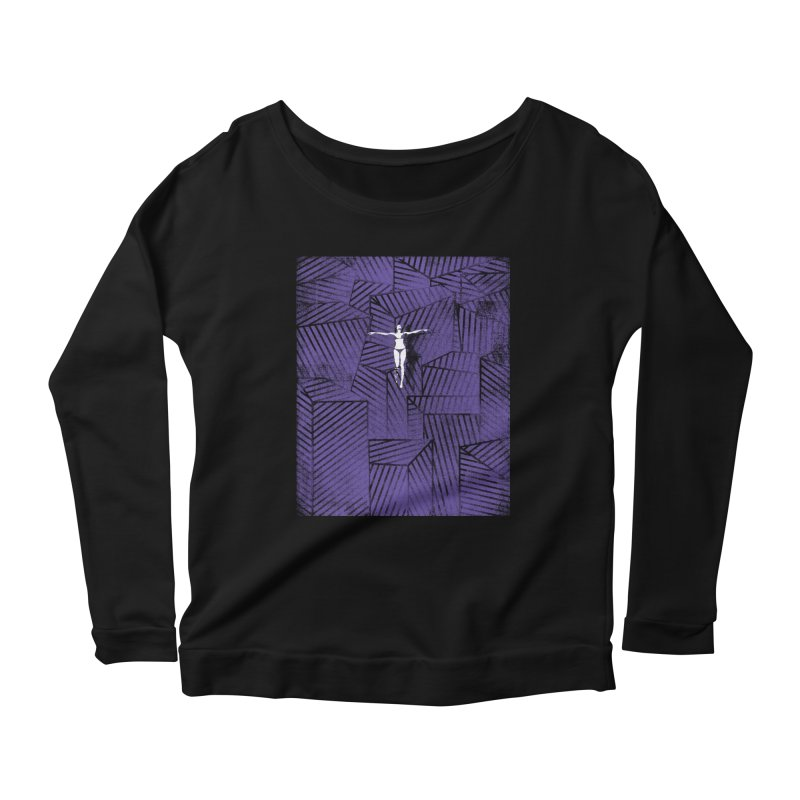Violet and beyond Women's Longsleeve Scoopneck  by bulo