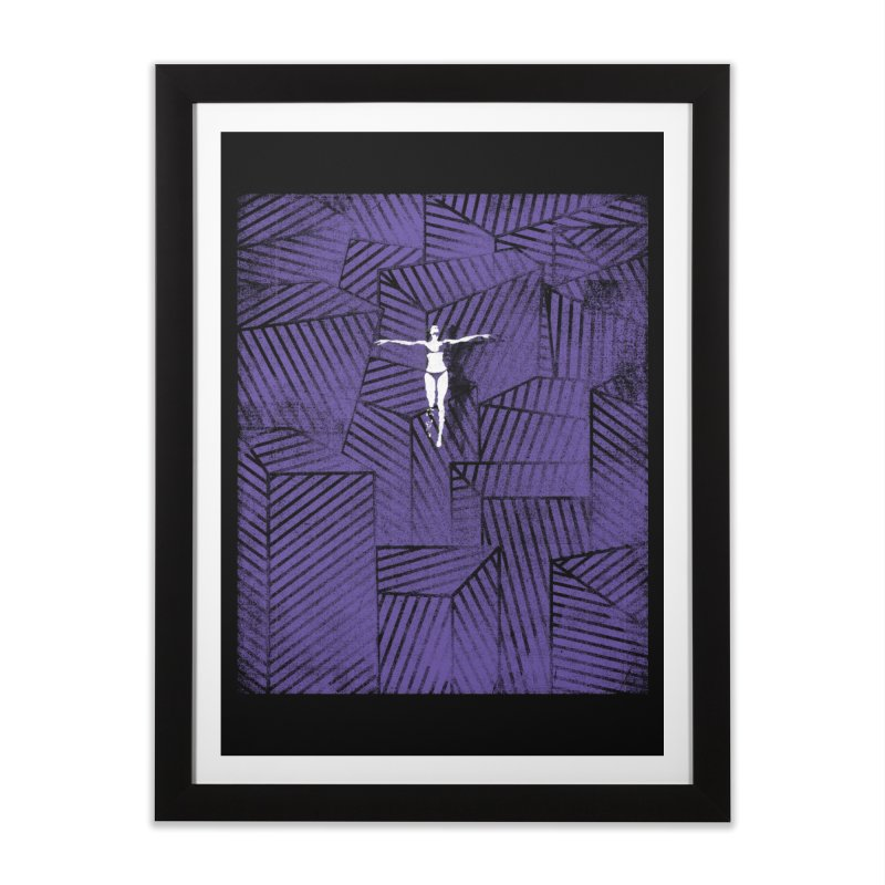 Violet and beyond Home Framed Fine Art Print by bulo