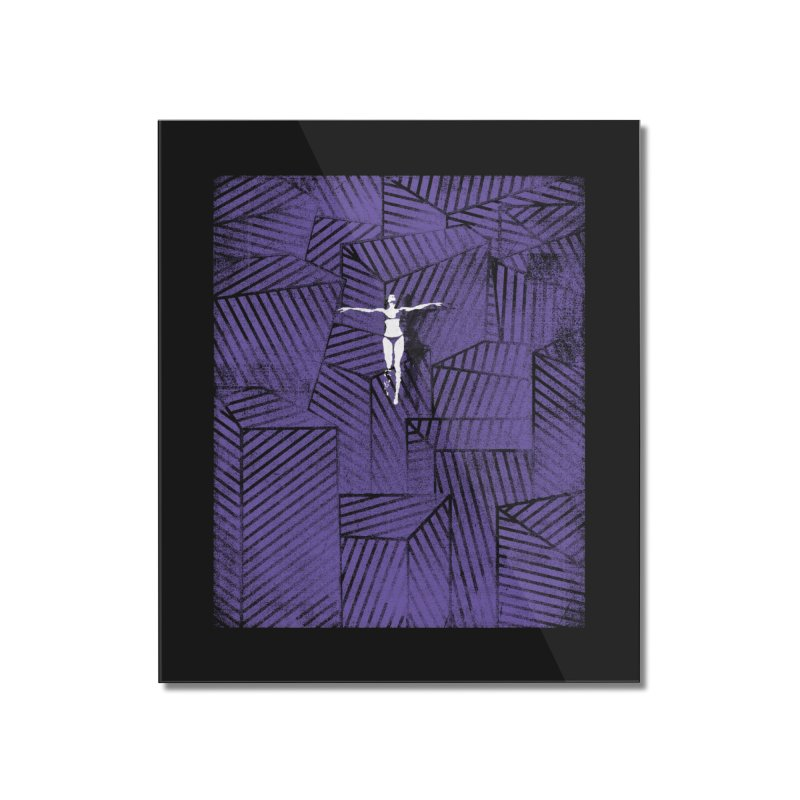 Violet and beyond Home Mounted Acrylic Print by bulo