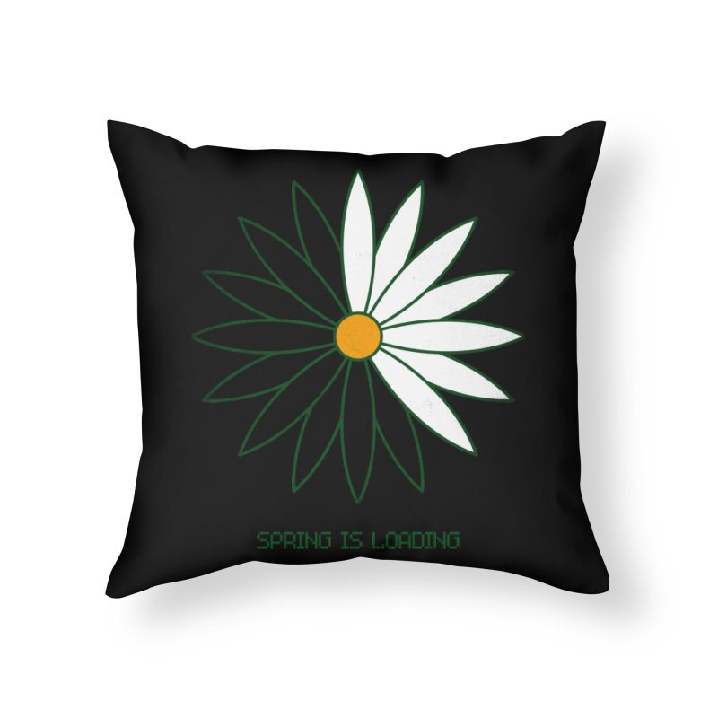 Spring is loading Home Throw Pillow by bulo