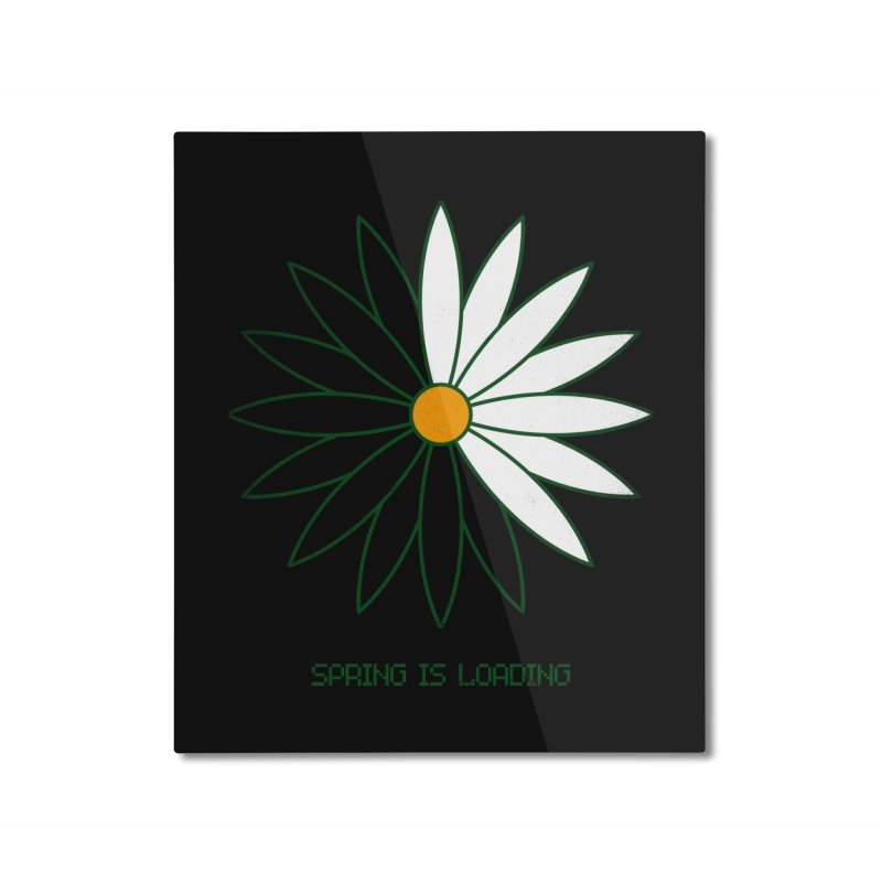 Spring is loading Home Mounted Aluminum Print by bulo