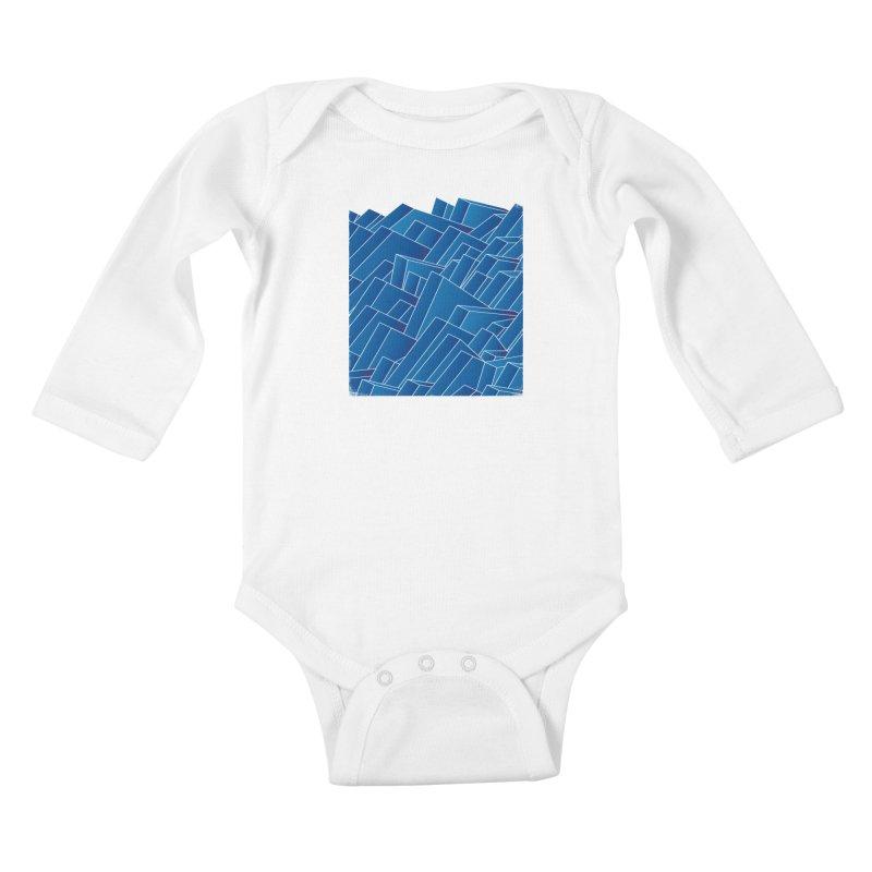 Waves Kids Baby Longsleeve Bodysuit by bulo