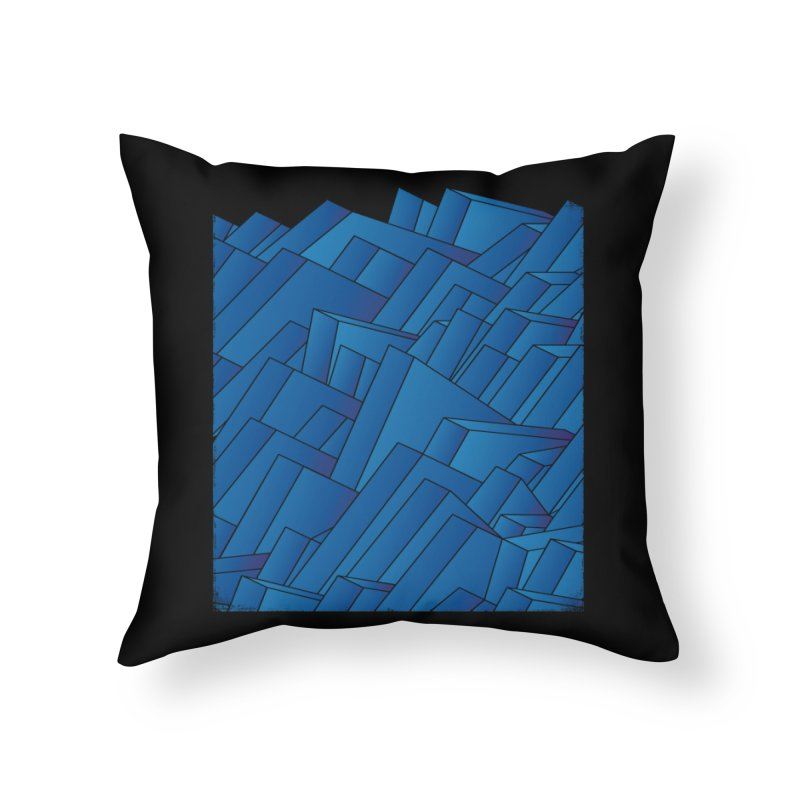 Waves Home Throw Pillow by bulo