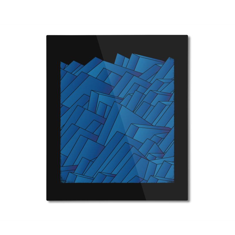 Waves Home Mounted Aluminum Print by bulo