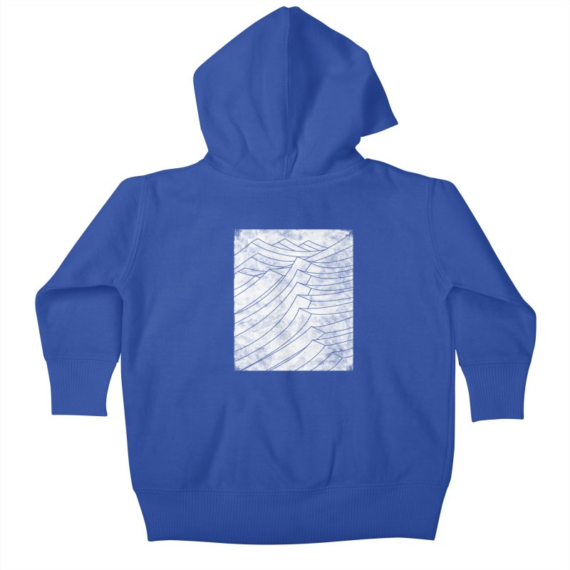 Isometric Waves (bw version) Kids Baby Zip-Up Hoody by bulo