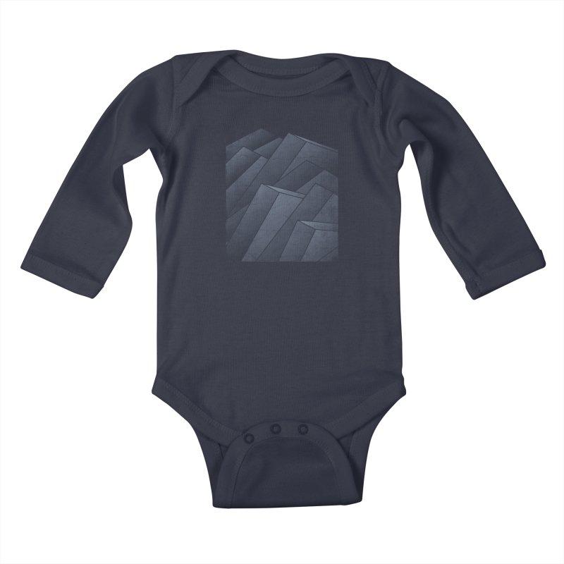 Isometric Waves Kids Baby Longsleeve Bodysuit by bulo