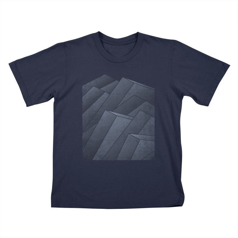 Isometric Waves Kids T-Shirt by bulo