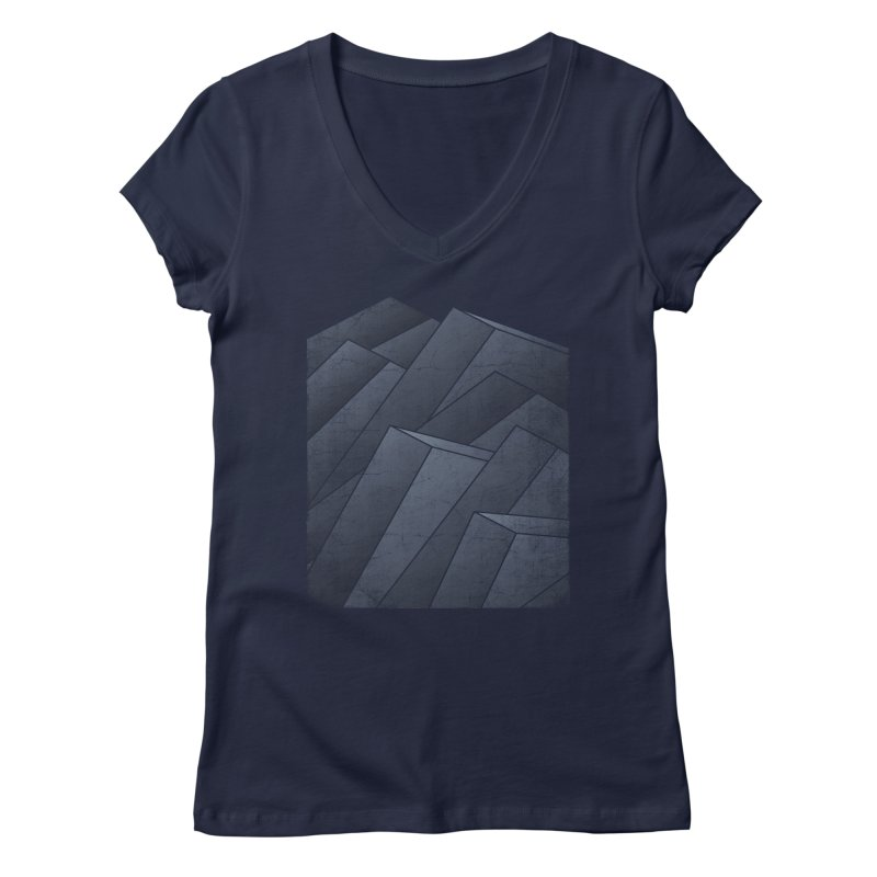 Isometric Waves Women's V-Neck by bulo