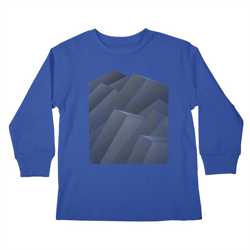 Isometric Waves Kids Longsleeve T-Shirt by bulo
