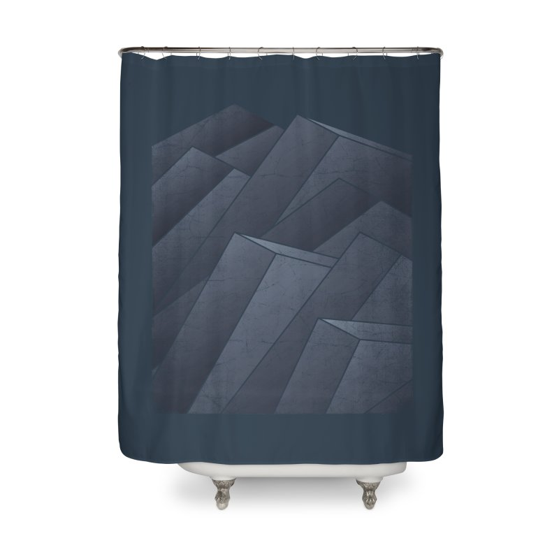 Isometric Waves Home Shower Curtain by bulo