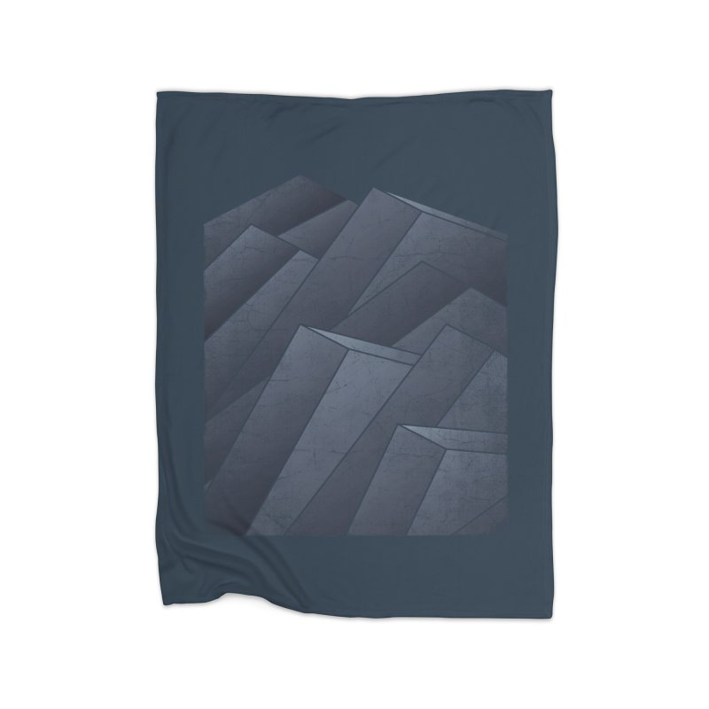 Isometric Waves Home Blanket by bulo