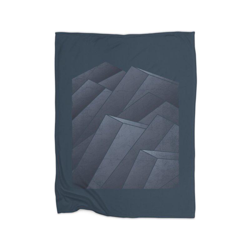 Isometric Waves Home Fleece Blanket by bulo