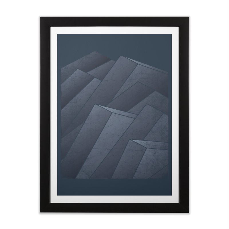 Isometric Waves Home Framed Fine Art Print by bulo