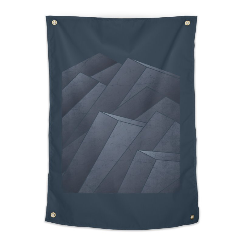 Isometric Waves Home Tapestry by bulo
