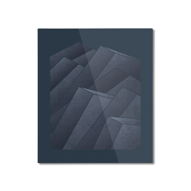Isometric Waves Home Mounted Aluminum Print by bulo