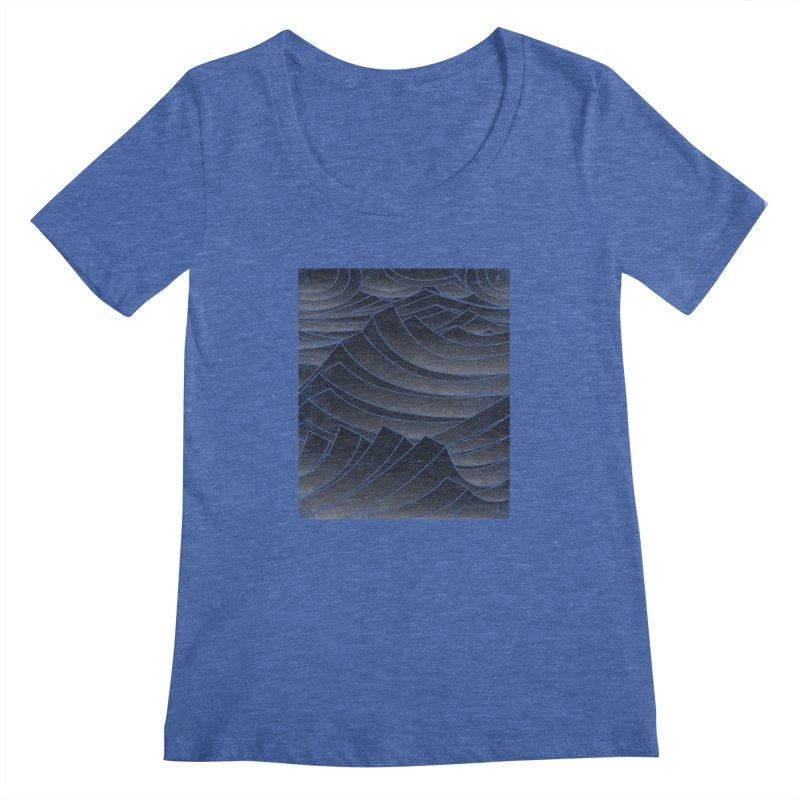 Waves Women's Scoopneck by bulo
