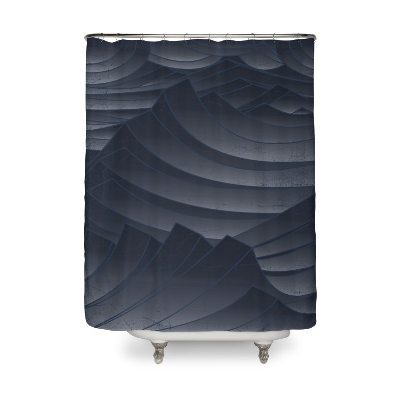 Waves Home Shower Curtain by bulo