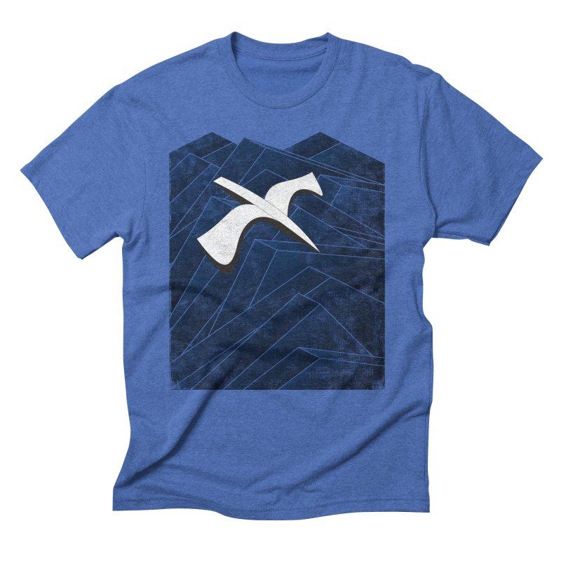 Isometric Blues Men's Triblend T-Shirt by bulo