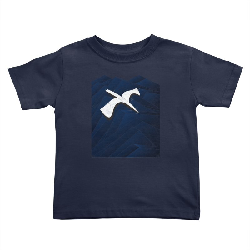 Isometric Blues Kids Toddler T-Shirt by bulo
