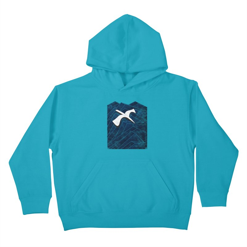 Isometric Blues Kids Pullover Hoody by bulo