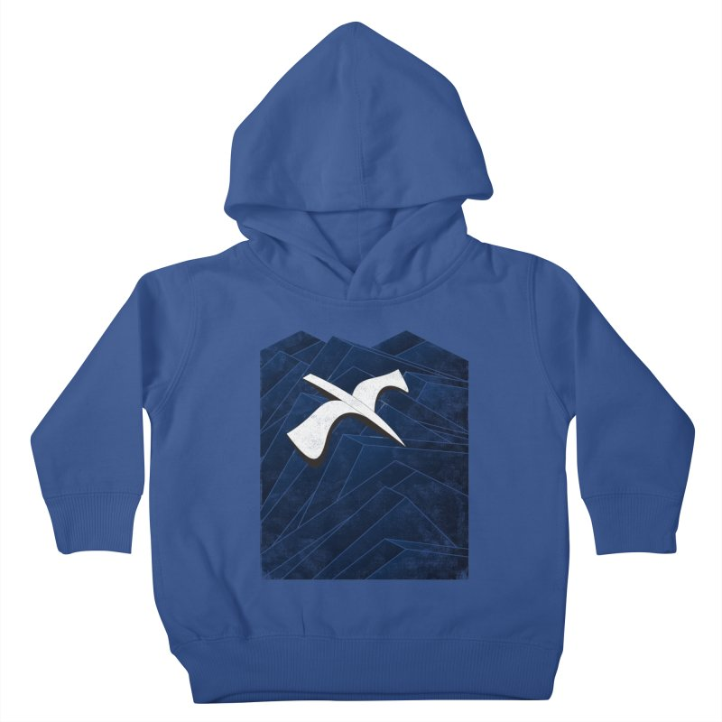 Isometric Blues Kids Toddler Pullover Hoody by bulo