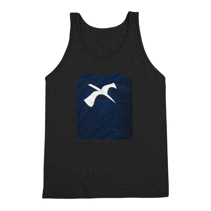Isometric Blues Men's Triblend Tank by bulo