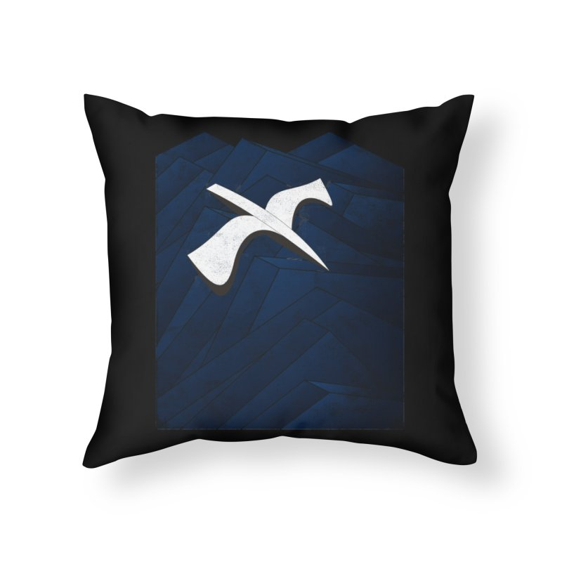 Isometric Blues Home Throw Pillow by bulo