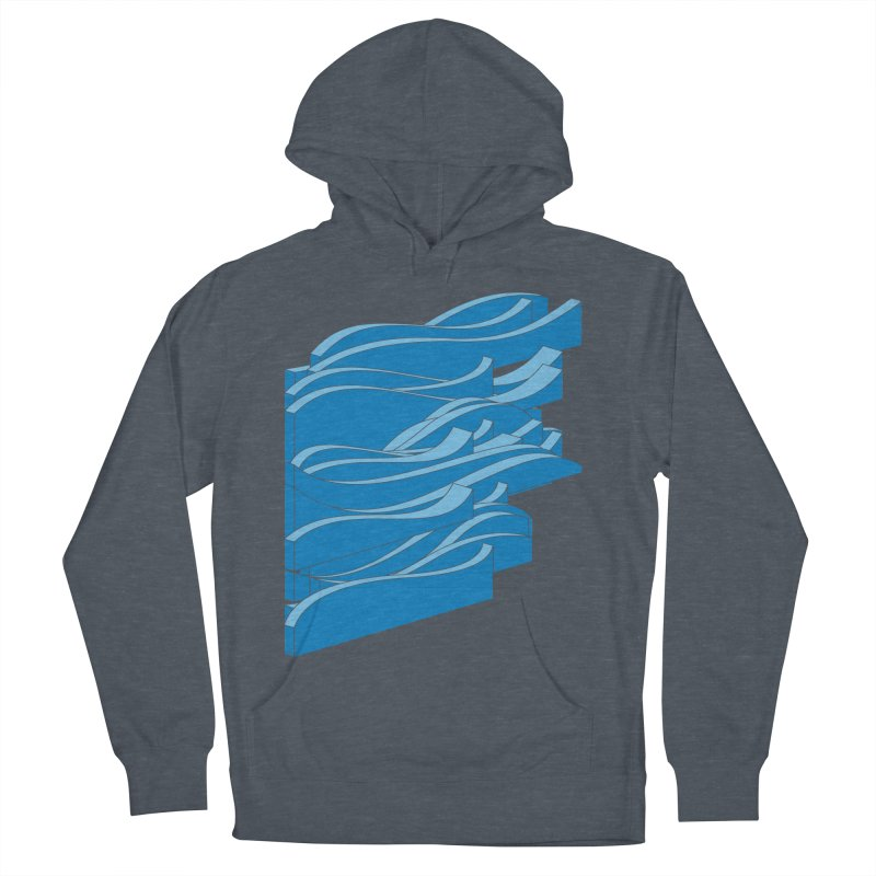 Isometric Waves Men's Pullover Hoody by bulo