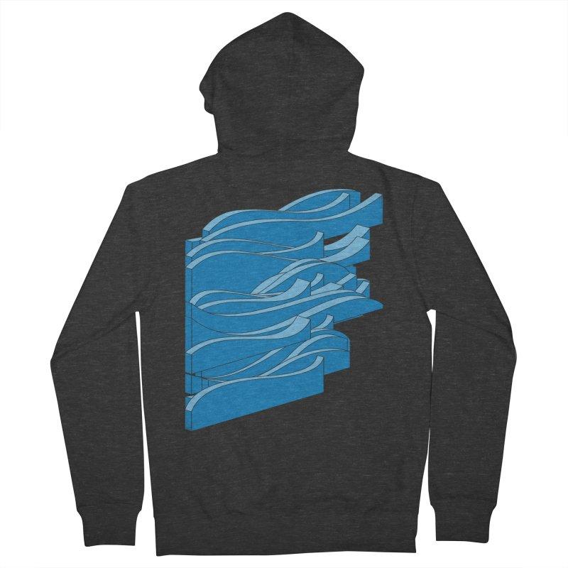 Isometric Waves Men's Zip-Up Hoody by bulo
