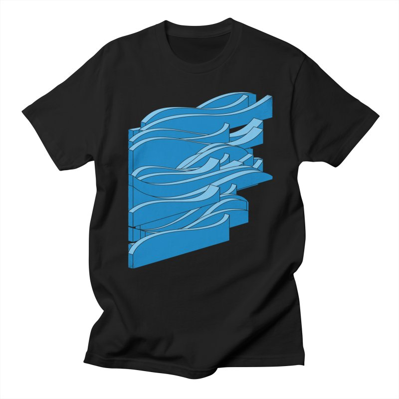 Isometric Waves Women's Unisex T-Shirt by bulo
