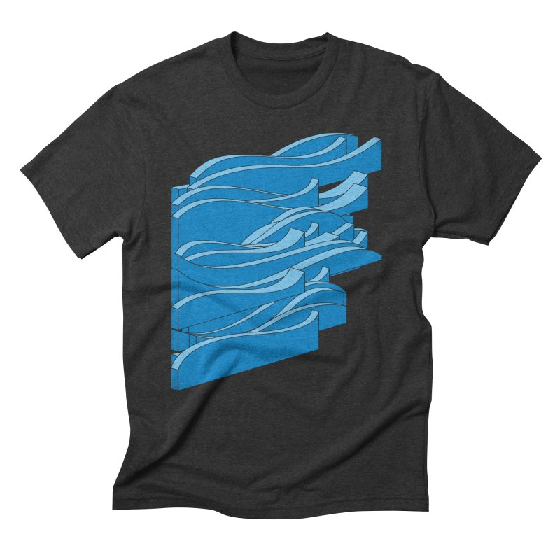 Isometric Waves Men's Triblend T-Shirt by bulo