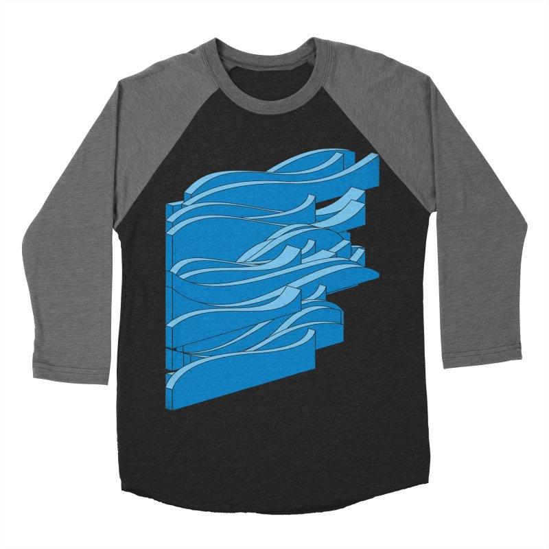 Isometric Waves Men's Baseball Triblend T-Shirt by bulo