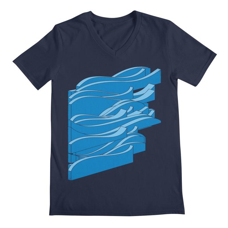 Isometric Waves Men's V-Neck by bulo