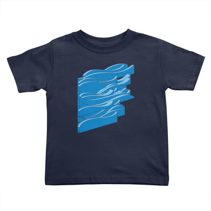 Isometric Waves Kids Toddler T-Shirt by bulo